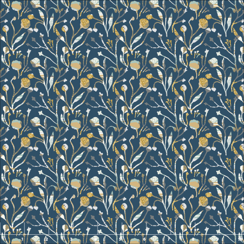 blue quilting fabric