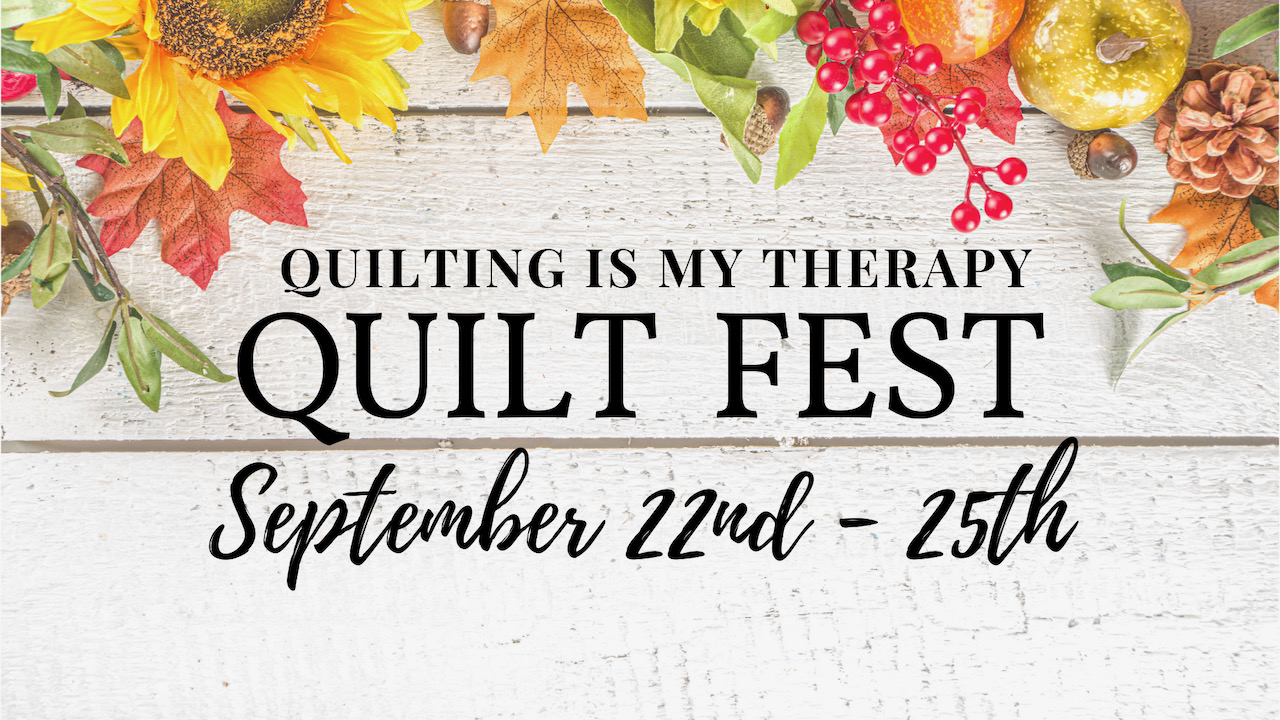 quilting is my therapy event