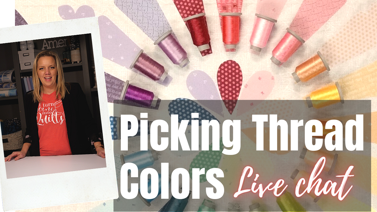 tips for picking out threads live chat with angela walters