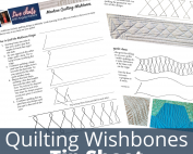 tips for machine quilting wishbones