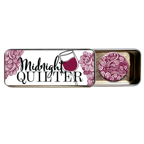 midnight quilter magnetic needle tin