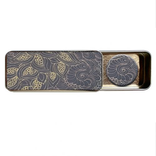 quilted magnetic needle tin