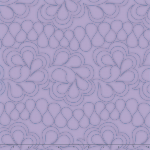 purple feather quilting fabric
